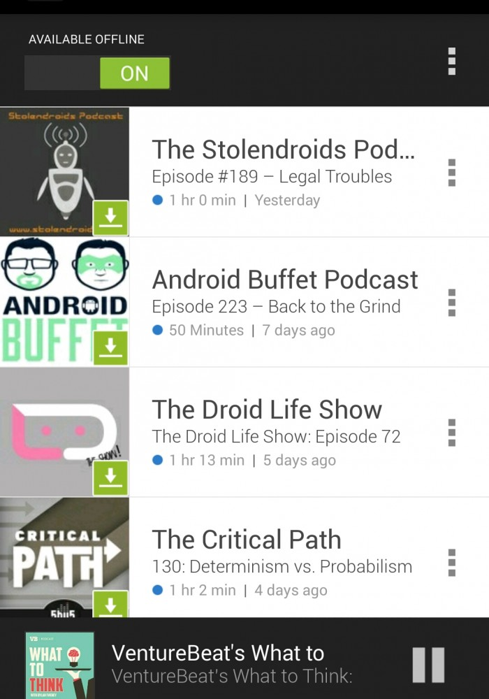 Sticher Podcast Reader Android App